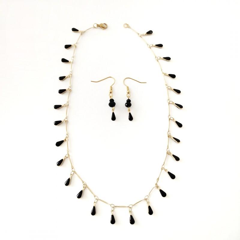 collar-y-pendientes-acero-  Juego-Moon-1